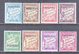 Andorra  J 1-8   * - Unused Stamps