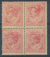 [801821]Monaco 1924-33, N° 91-cu, 75c Rose Sur Paille, Curiosité: Impression Très Dépouillée, **/mnh, Rare Ainsi - Errors And Oddities