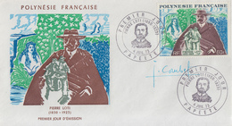 Enveloppe  FDC  1er Jour  POLYNESIE    Pierre  LOTI    1973 - FDC