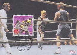 Carte  Maximum  1er  Jour    SAINT  PIERRE  ET  MIQUELON      Boxe   1996 - Pugilato