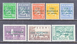 RUSSIAN  OCCUP.  FINLAND  KARALIA  N 8-15  ** - 1919 Occupation: Finland