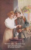 AK Deutsche Liebe - Deutsche Treue - Deutscher Soldat Mit Frau - Patriotika - 1. WK (38996) - Guerre 1914-18