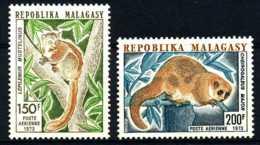 [804833]Madagascar 1973, Timbre Aérien, Lémuriens, Animaux, Singes, SC, **/mnh - Madagascar (1960-...)