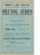 AVIATION- Meeting Aérien - Gap Tallard - 1954 - Programmi