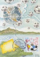 Carte  Maximum  1er  Jour  SAINT  PIERRE  ET  MIQUELON  Coupe  Du   Monde  De  Football    1998 - Cartes-maximum