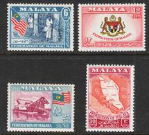 Malaya - Scott #80-83 MH - Federation Of Malaya - Federated Malay States