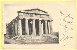 ITALIA - ITALY - ITALIE - 1901 - 10c Mouchon - Girgenti - Tempio Della Concordia - Viaggiata Da Pompey Per Lunéville - Agrigento