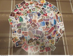 #PP, Canada, 100 Timbres Différents Grand Format Du Canada Décollés, 100 Different Large Size Stamps - Vrac (max 999 Timbres)