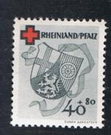 1949 25. Feb.  DRK Mi DE-FRP 45A  Yt DE-FRP 44  Sg DE-FR 45 Postfrisch Xx - Französische Zone