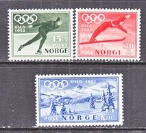 NORWAY   B 50-52  **   OLYMPICS  SKI,  SPEED  SKATING - Winter 1952: Oslo