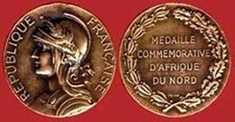 ** MEDAILLE  COMMEMORATIVE  D' AFRIQUE  Du  NORD ** - Militaria
