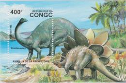 CONGO Bloc Feuillet Neuf Xx 1993  - Dinosaures - Kongo - Brazzaville