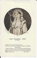 Image Pieuse ...Généalogie   SAINT POURCAIN ABBE - Devotion Images