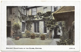 Ancient Courtyard In The Close Exeter Unused C1918 - Arcadian - Exeter