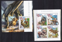 Guinea 2014 - Dinosaurs - Prehistorics - Nature  - Postage Stamps MNH** XH - Stamps