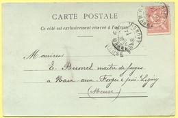 FRANCIA - France - 1903 - 10c Mouchon - Carte Postale - CH. PREVOT - Viaggiata Da Vignory Per Naix-aux-Forges - 1900-02 Mouchon