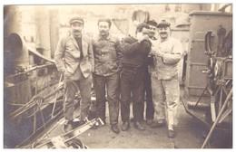 MARINS MECANICIENS  A BORD  1918    CARTE PHOTO - War, Military