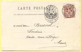FRANCIA - France - 1903 - 10c Mouchon - Carte Postale - Georges Villemot - Viaggiata Da Langres Per Naix-aux-Forges - 1900-02 Mouchon