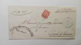 1886 - Lettera Dal Comune Di Villa Bartolomea (VR) Al Sindaco Di Casale Di Scodosia (PD) - Manuscripts