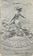 Bulletin Mensuel De La Maison Théodore CHAMPION - 6ème Supplément à La 42ème édition Du Catalogue Yvert 1938 - France