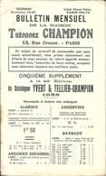 Bulletin Mensuel De La Maison Théodore CHAMPION - 5ème Supplément à La 42ème édition Du Catalogue Yvert 1938 - France