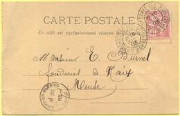 FRANCIA - France - 1903 - 10c Mouchon - Carte Postale - Morel-Grosmand - Viaggiata Da Bourbonne-les-Bains Per Naix-aux-F - 1900-02 Mouchon