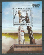 Tchad Bloc-feuillet YT N°46 Fusée Ariane Et Satellite Intelsat V Neuf/charnière * - Tchad (1960-...)