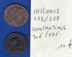 Gallirnus  259/268 +  Constantinus  306/336 - 5. L'Anarchie Militaire (235 à 284)