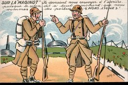 CPA FRANCE NEUVE - SUR LA LIGNE MAGINOT - - Humoristiques