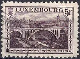1921 Paysages Pont Adolphe, Oblitéré, Michel 2019: 136A, Valeur Catalogue:12€ - Luxembourg