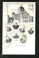 AK Schweizer Bundesrat 1902, Bundespräsident Zemp, Portraits Von Comtesse, Brenner, Müller, Hausen U. A. - Switzerland