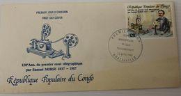 Enveloppe 1° Jour CONGO Télégramme MORSE 28 Avril 1988 - Ongebruikt