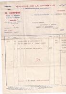 """77 LA CHAPELLE-GAUTHIER - Huilerie De La Chapelle """"AVIO-OIL"""" R. COPPENS - Facture De 1959 - France"""