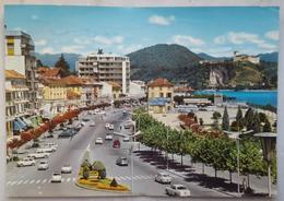 ARONA VERBANIA - Lago Maggiore - Sullo Sfondo Rocca D'Angera - Maggiore Lake - Distributore Benzina Total Auto Cars  P2 - Verbania