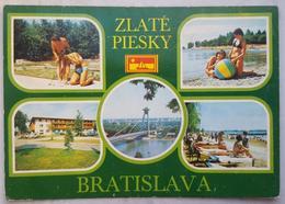 ZLATE PIESKY Bratislava CZECHOSLOVAKIA Camping Girls Beach Vg - Slovacchia