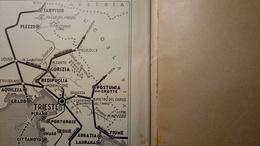 ENIT - Mappa, Cartina Geografica - Map - Trieste (ex Province) - Dépliant, Brochure - Anni '30 - Dépliants Turistici