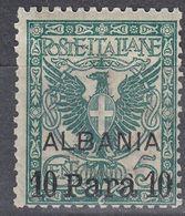 LEVANTE - Uffici Italiani In Albania - 1902 - Unificato 1 Nuovo MH. - 11. Oficina De Extranjeros