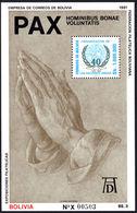 Bolivia 1991 Peace Souvenir Sheet Unmounted Mint. - Bolivia