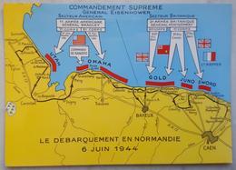 LE DEBARQUEMENT EN NORMANDIE - 6 Juin 1944 - II World War - Normandy Landings - Omaha Beach Map Utah Gold Juno Sword - Guerra 1939-45