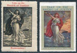 WWI REMEMBER LUSITANIA Poster Stamp Vignette Steamer Liner Steamship Dampfer Navire Paquebot Reklamemarke UK GB WW1 (2) - Bateaux