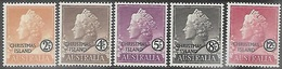 Christmas Island 1958   Sc#1-3, 5, 7    2c, 4c, 5c, 8c, 12c  MLH   2016 Scott Value $9.45 - Christmas Island