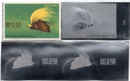 KPI-401.INDONESIE ZB 397, Pair 2 1963, 6r Onafhankelijheid Van Irian Barat, Piece Of Printing Plate! Rare!!! - Indonesia