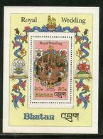 Bhutan 1981 Royal Wedding Princess Diana & Charles M/s Sc 321 MNH # 5596 - Bhutan