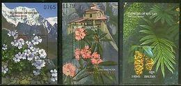 Bhutan 2000 Flowers Mountain Tree Plant  M/s Sc 1315-17 MNH # 5222 - Bhutan