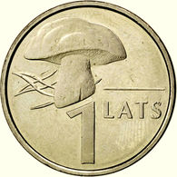Latvia 1 Lats 2004 Mushroom Pilz KM 67 UNC FROM MINT ROLL - Latvia