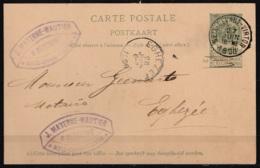 EP 5c Vert Càd MEIX-DEVANT-VIRTON /27 JUIN 1898 Pour Notaire à EGHEZEE - Entiers Postaux