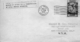 Distribution Retardée D'un An,BYRD Antartic Expédition II,31/1/34-25/3/35. - Lettres & Documents