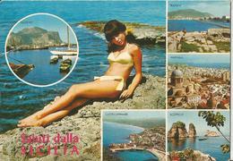 SALUTI DALLA SICILIA    (521) - Saluti Da.../ Gruss Aus...