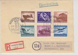 R-Brief Mit Netten Marken Aus NORTHEIM 8.5.44 Mit SST Nach Gmünd - Allemagne