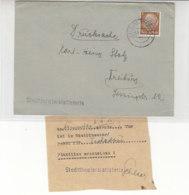 Ortsdrucksache Des STADTTHEATERS Aus FREIBURG 5.11.41 Mit Eintrittskarte - Deutschland